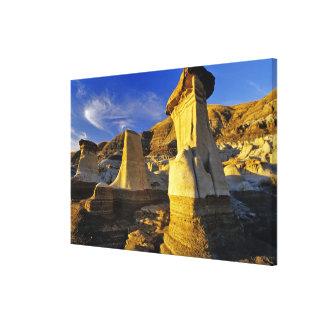 Canada Alberta Drumheller Hoodoos Gallery Wrapped Canvas