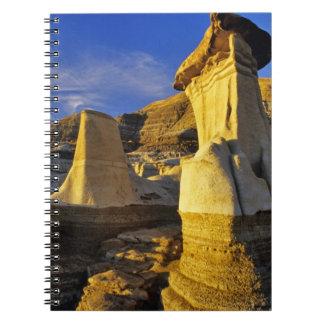 Canada Alberta Drumheller Hoodoos Spiral Note Book