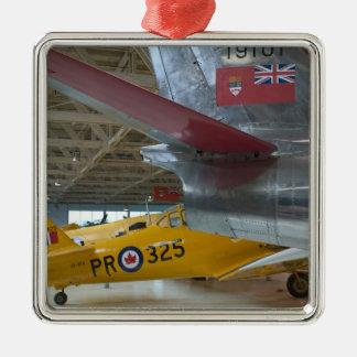 Canada, Alberta, Edmonton: Alberta Aviation 2 Square Metal Christmas Ornament