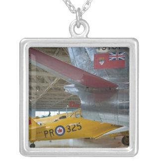 Canada, Alberta, Edmonton: Alberta Aviation 2 Square Pendant Necklace