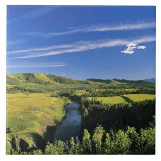 Canadá, Alberta, el río de Highwood a lo largo del Azulejo Cuadrado Grande