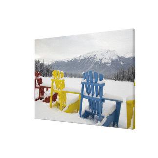 Canada, Alberta, Jasper, Jasper NP. Fairmont Canvas Print