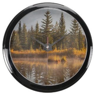 Canada, Alberta, Jasper National Park Aquavista Clock