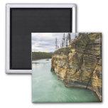 Canada, Alberta, Jasper National Park, Athabasca 2 Inch Square Magnet