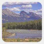 Canada, Alberta, Jasper National Park. Large Square Sticker