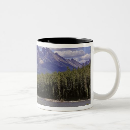 Canada, Alberta, Jasper National Park. Large Two-Tone Coffee Mug