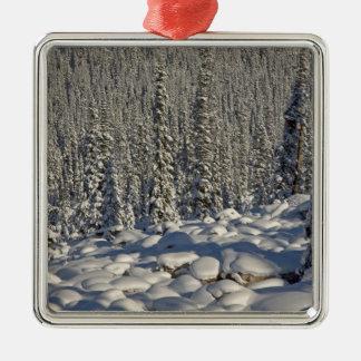 Canada, Alberta, Jasper National Park. Christmas Ornaments