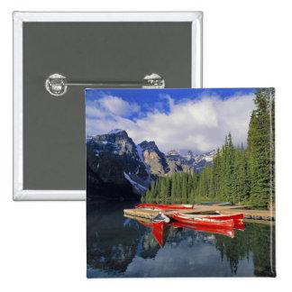 Canadá, Alberta, lago moraine. El vidrioso Pin Cuadrada 5 Cm