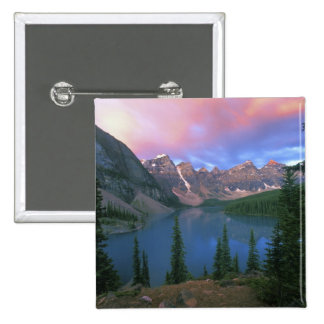 Canada, Alberta, Lake Moraine at Dawn, Banff Pinback Button