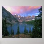 Canada, Alberta, Lake Moraine at Dawn, Banff Poster