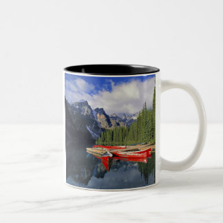 Canada, Alberta, Moraine Lake. The glassy Two-Tone Coffee Mug