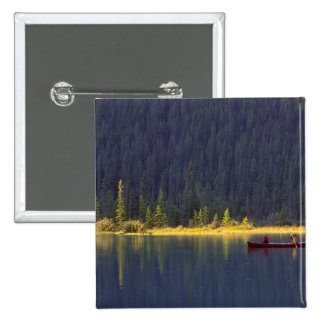 Canadá, Alberta, parque nacional de Baniff. Dos mu Pin Cuadrada 5 Cm