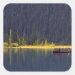 Canadá, Alberta, parque nacional de Baniff. Dos Colcomanias Cuadradas