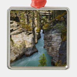 Canadá, Alberta, parque nacional de jaspe, Adorno Navideño Cuadrado De Metal