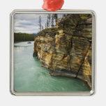 Canadá, Alberta, parque nacional de jaspe, Adorno Cuadrado Plateado