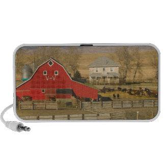 Canada, Alberta, Pincher Creek: Red Barn & Ranch Portable Speaker