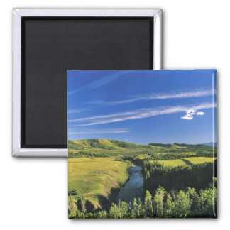 Canada, Alberta, The Highwood River Along the 2 Inch Square Magnet