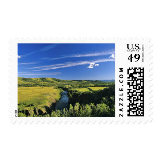 Canada, Alberta, The Highwood River Along the Postage Stamp