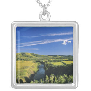 Canada, Alberta, The Highwood River Along the Silver Plated Necklace