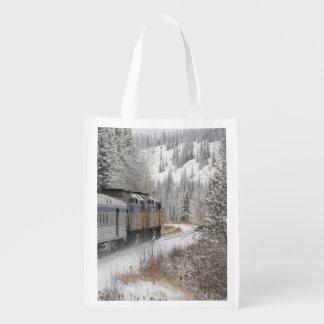 Canadá, Alberta. VÍA el tren de la nieve del carri Bolsa Reutilizable