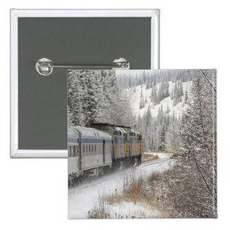 Canada, Alberta. VIA Rail Snow Train between Button