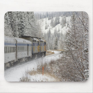 Canada, Alberta. VIA Rail Snow Train between Mouse Pad