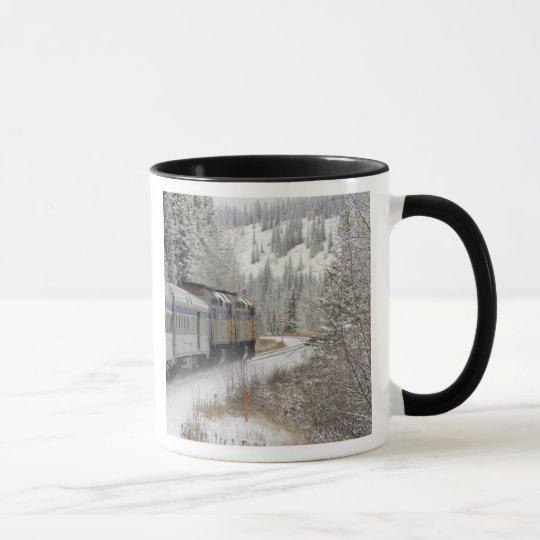 Canada, Alberta. VIA Rail Snow Train between Mug