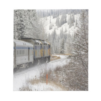 Canada, Alberta. VIA Rail Snow Train between Notepad