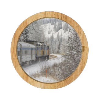 Canada, Alberta. VIA Rail Snow Train between Round Cheeseboard