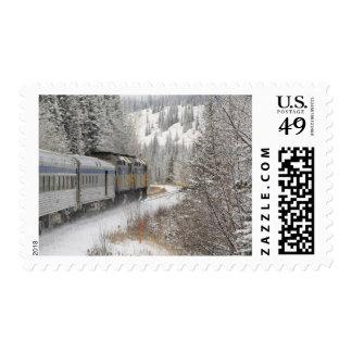 Canada, Alberta. VIA Rail Snow Train between Stamp