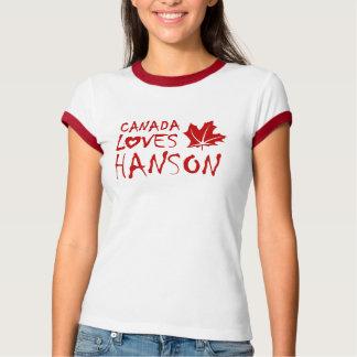 Canadá ama la camiseta de Hanson (Alberta) Playeras