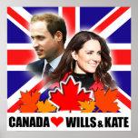 Canadá ama príncipe Guillermo y el poster de Kate