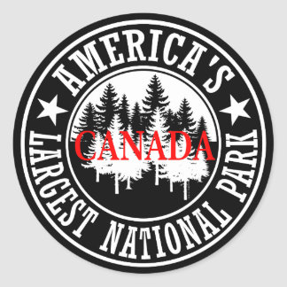 Canada America's Largest National Park Classic Round Sticker