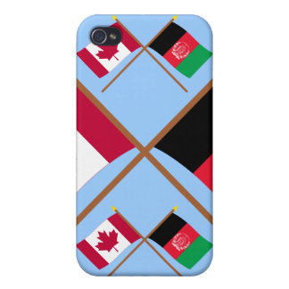Canada and Afghanistan Crossed Flags iPhone 4/4S Cover