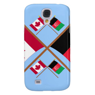 Canada and Afghanistan Crossed Flags Samsung Galaxy S4 Case
