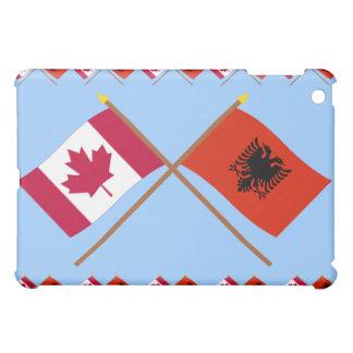 Canada and Albania Crossed Flags Case For The iPad Mini