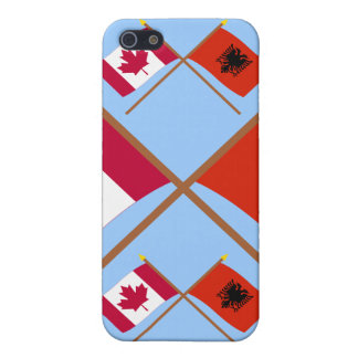 Canada and Albania Crossed Flags Cover For iPhone 5/5S