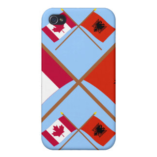 Canada and Albania Crossed Flags iPhone 4/4S Case