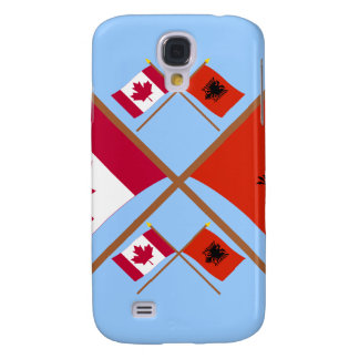 Canada and Albania Crossed Flags Samsung Galaxy S4 Covers
