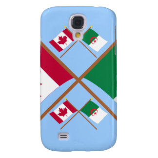 Canada and Algeria Crossed Flags Galaxy S4 Cover
