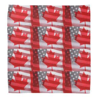 Canada and America flags Bandana