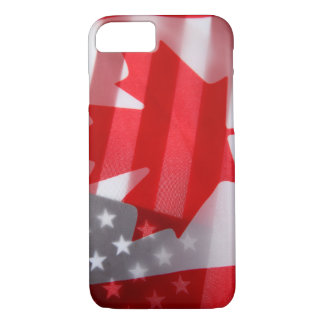 Canada and America flags iPhone 7 Case