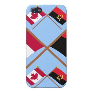 Canada and Angola Crossed Flags iPhone 5/5S Covers