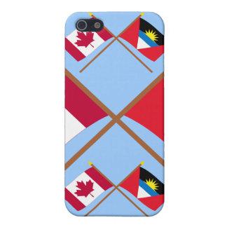 Canada and Antigua & Barbuda Crossed Flags iPhone 5 Cases