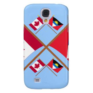 Canada and Antigua & Barbuda Crossed Flags Samsung Galaxy S4 Case