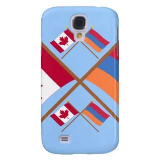 Canada and Armenia Crossed Flags Samsung Galaxy S4 Case