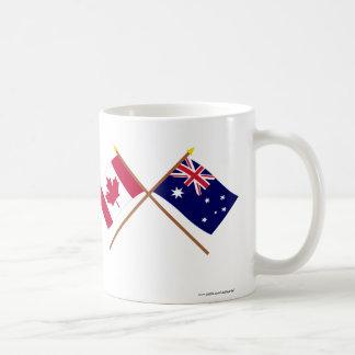 Canada and Australia Crossed Flags Coffee Mug
