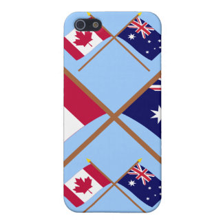Canada and Australia Crossed Flags Cover For iPhone 5/5S