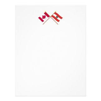 Canada and Austria Crossed Flags Letterhead