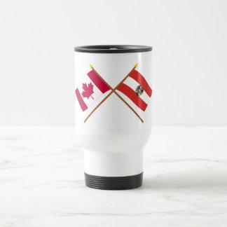 Canada and Austria Crossed Flags Mug
